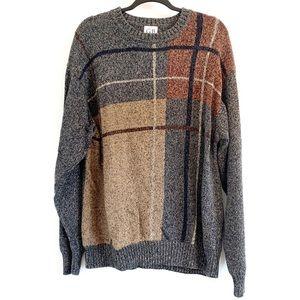 Vtg Geoffrey Beene Grandpa Dad Sweater Cotton XL